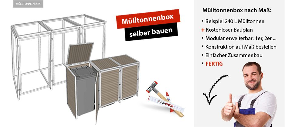 m lltonnenbox selber bauen baunleitung garten. Black Bedroom Furniture Sets. Home Design Ideas