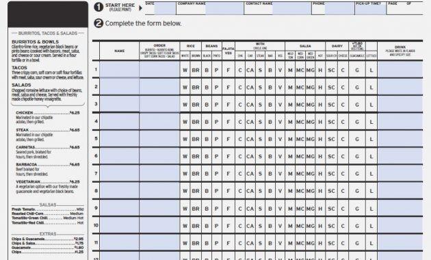 Qdoba Fax Order Form 13 Mind Numbing Facts About Qdoba Fax