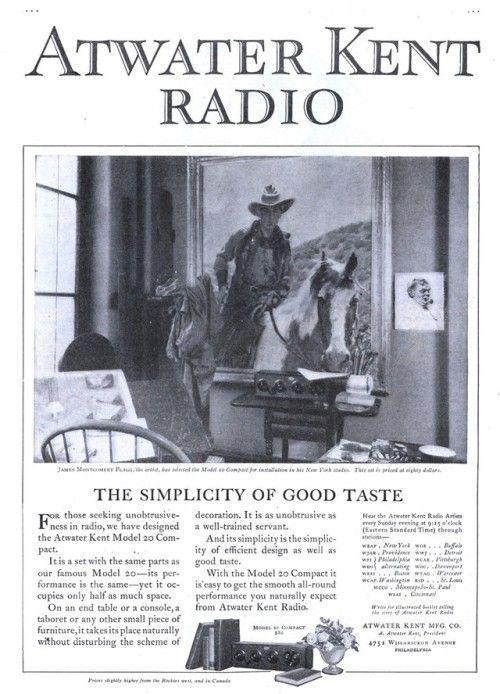 Atwater Kent Radio - 19251128 Literary Digest Atwater Kent radios