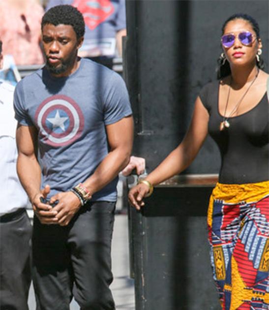 Chadwick Boseman and his alleged girlfriend