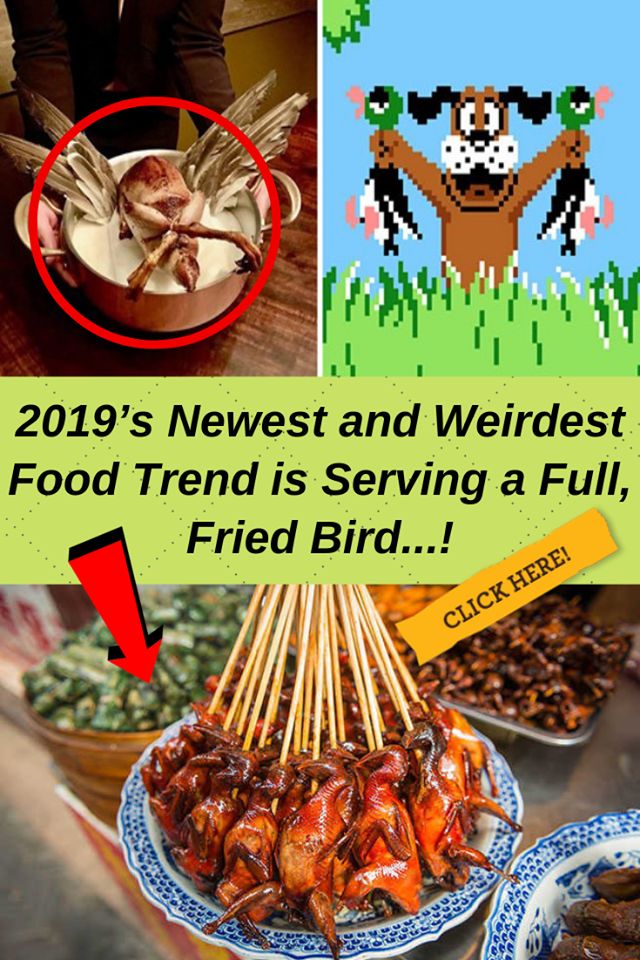 2019's Newest and Weirdest Food Trend is Serving a Full