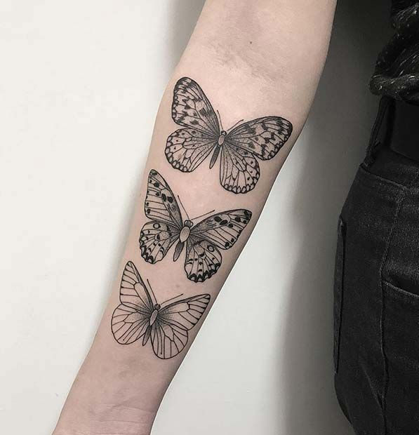 61 Pretty Butterfly Tattoo Designs and Placement Ideas | Page 3 of 6 | StayGlam
