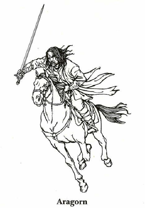 Coloring Page Lord Of The Rings Kids N Fun El Señor De Los