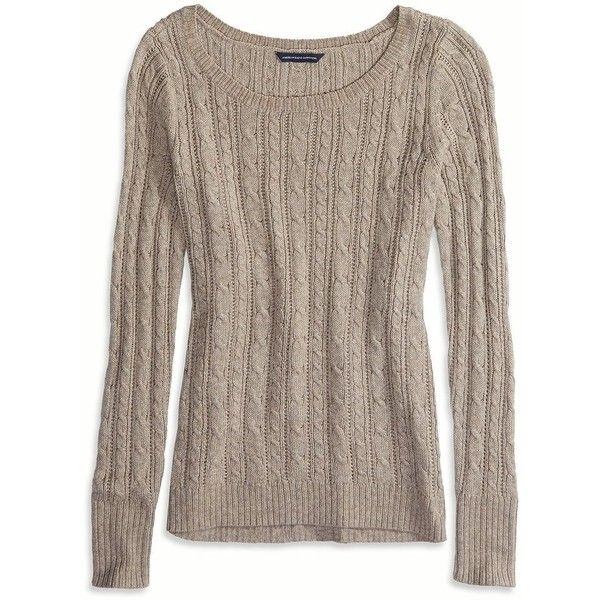 American Eagle Factory Cable Knit Sweater ($37) ❤ liked on ...