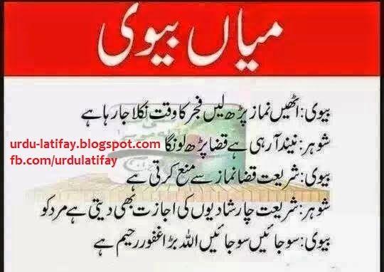 Urdu Latifay Husband Wife Funny Jokes With Cartoon 2014: Urdu Latifay: Mian Bivi Jokes In Urdu 2014, Urdu Latifay