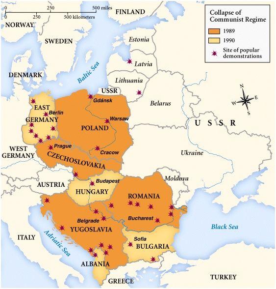 Romania Ussr 1990 Lithuania Leaves Soviet Union Germany Reunited