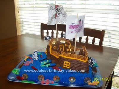 Coolest Pirate Ship Birthday Cake Pirate ships Birthday cakes and