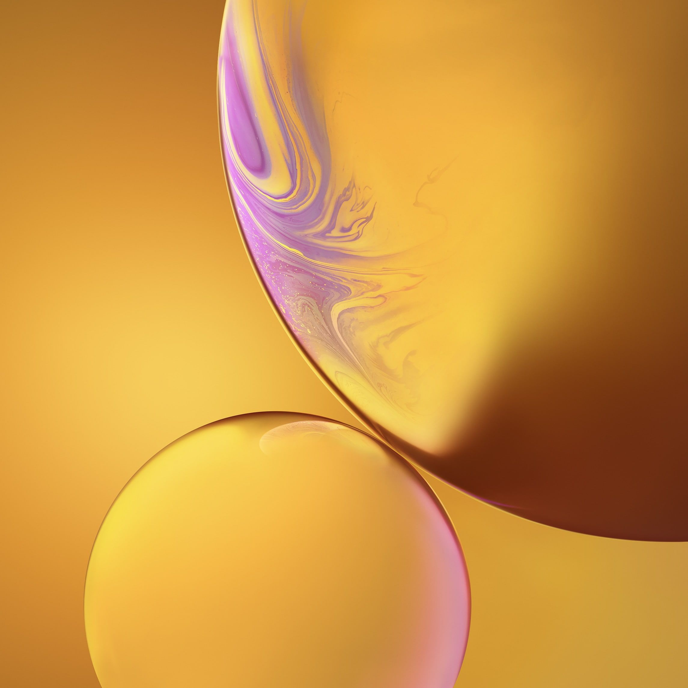 Bubbles Yellow Iphone Xr Ios 12 Stock Hd 1080p Wallpaper Hdwallpaper Desktop In 2020 Bubbles Wallpaper Yellow Iphone Android Wallpaper
