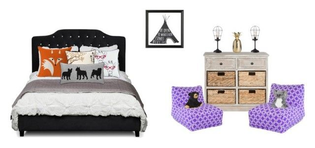 """""""Kids rooms"""" by ddoscar on Polyvore featuring interior, interiors, interior design, home, home decor, interior decorating, Safavieh, Dot & Bo, Zuo and Jovi Home"""