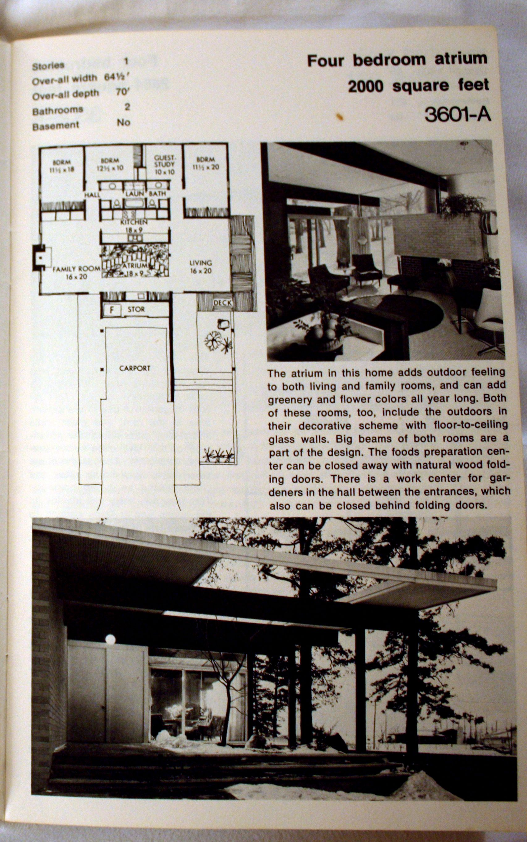 """Late 1960s Better Homes and Gardens Home Plans Book: """"HOME PLANS"""" - A Traditional or a Contemporary home for YOUR family"""""""