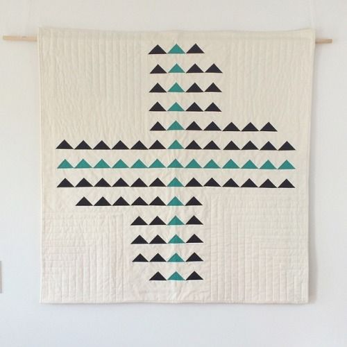 """Finally got a shot of the front of """"Forward"""". #quilts #handquilting #textiles (at the white room)"""