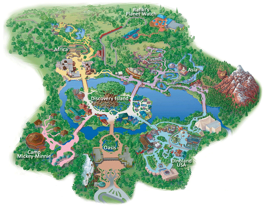 Map to the attractions at animal kingdomkilimanjaro safaris map to the attractions at animal kingdomkilimanjaro safaris expedition everest the gumiabroncs Images