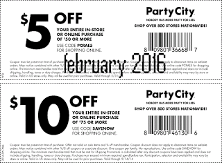 Party City Coupons Party City Party Printables Free Free Printable Coupons