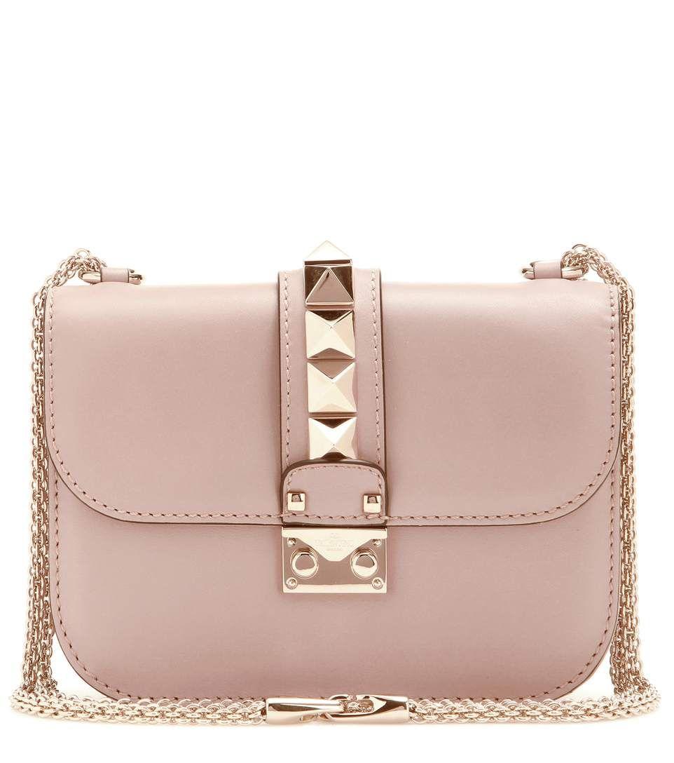 7f6f9baa67c VALENTINO Valentino Garavani Lock Small Leather Shoulder Bag ...
