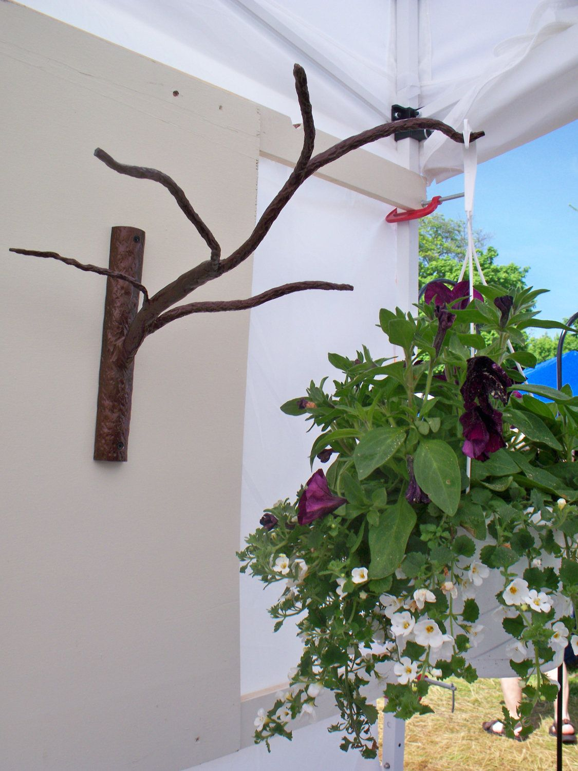 Decorative Branch Plant Hanger By Moosesmetalmarvels On Etsy 40 00