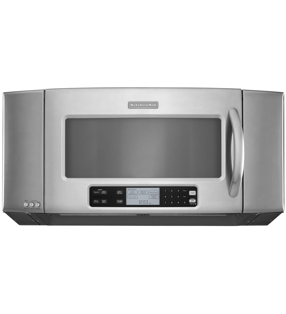 Kitchenaid 36 1200 Watt Microwave Hood Combination Oven Architect Series Ii Khms2056sss Stainless Steel This Model Has An Interesting Design
