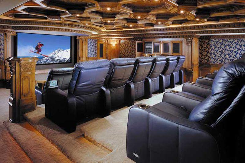 Luxury Interior Home | Luxury Home Theatre Interior Design Ideas   Image  Picture