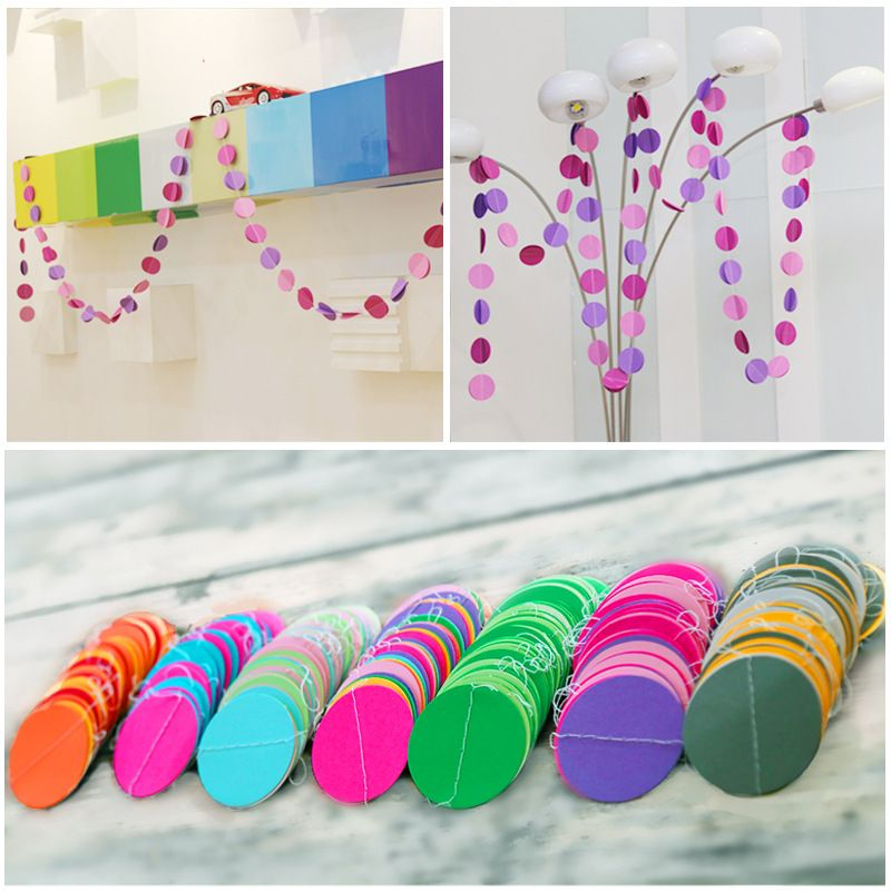 Wedding Bell Decorations Wedding Supplies Decorations Paper Garland Round Circle 3 Meters