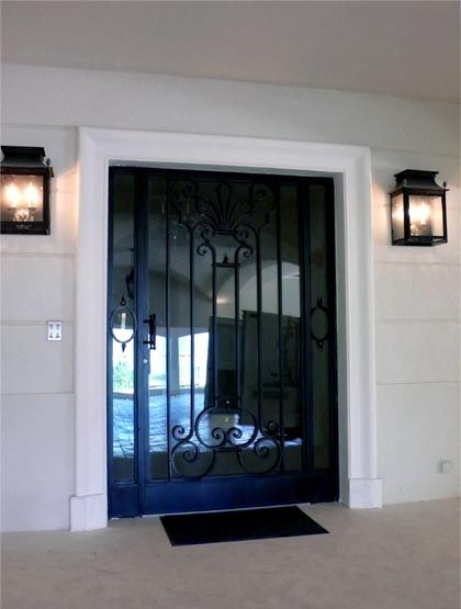 Porte En Fer Forg  Design Art Dcoration Pour La Maison  La
