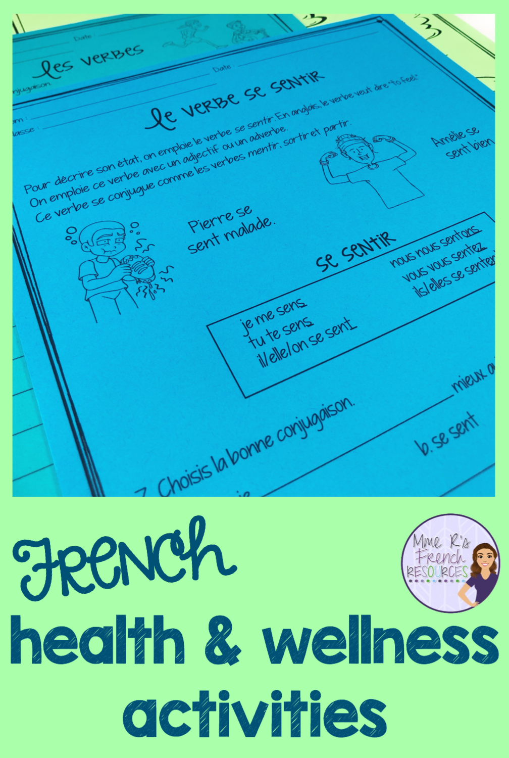 French Worksheets For Vocabulary And Verbs French Teaching Resources Vocabulary Teaching French [ 1500 x 1008 Pixel ]