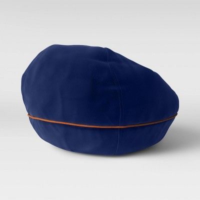 Bean Bag Chair with Suede Piping Navy - Pillowfort