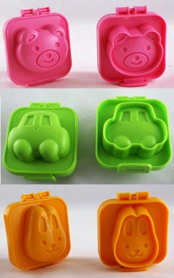 japanische geformte gekochtes Ei, Reis, Crayon Formen für Bento Box, Party Favors, Kin... Kawaii j