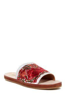 84af8eb23696 Jeffrey Campbell - Sarasi Embroidered Slide Sandal -On Sale  54 ...