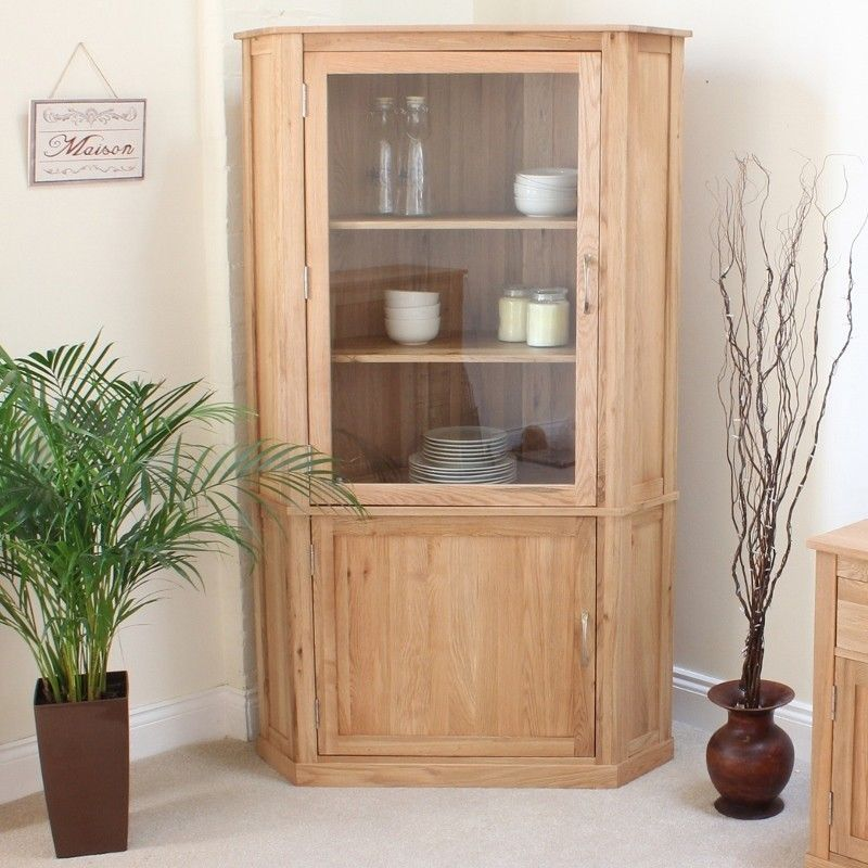 Attractive ... Corner Display Cabinet   COR01E   The Mobel Oak Large Corner Display  Cabinet Is A Stunning Piece Of Furniture That Would Look Amazing In Any Living  Room ...