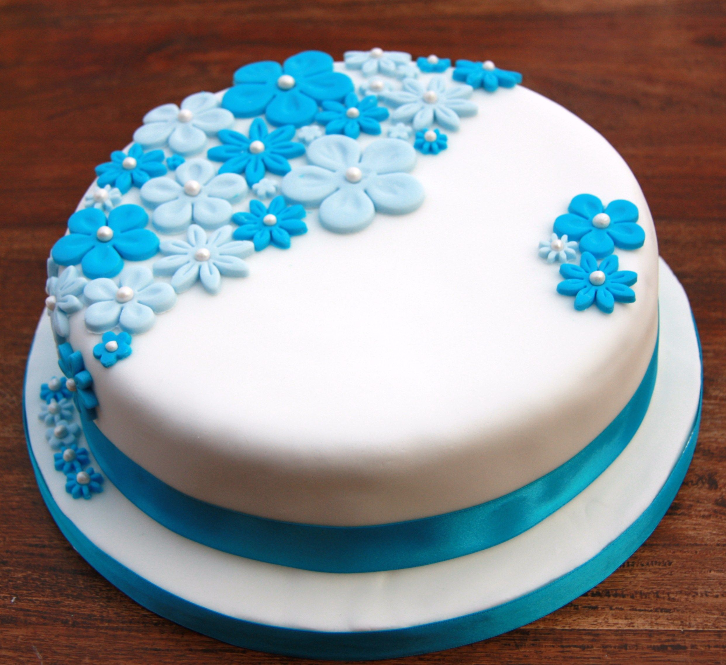 Cake Flower Blue Google Zoeken Low Gi Pinterest Birthday