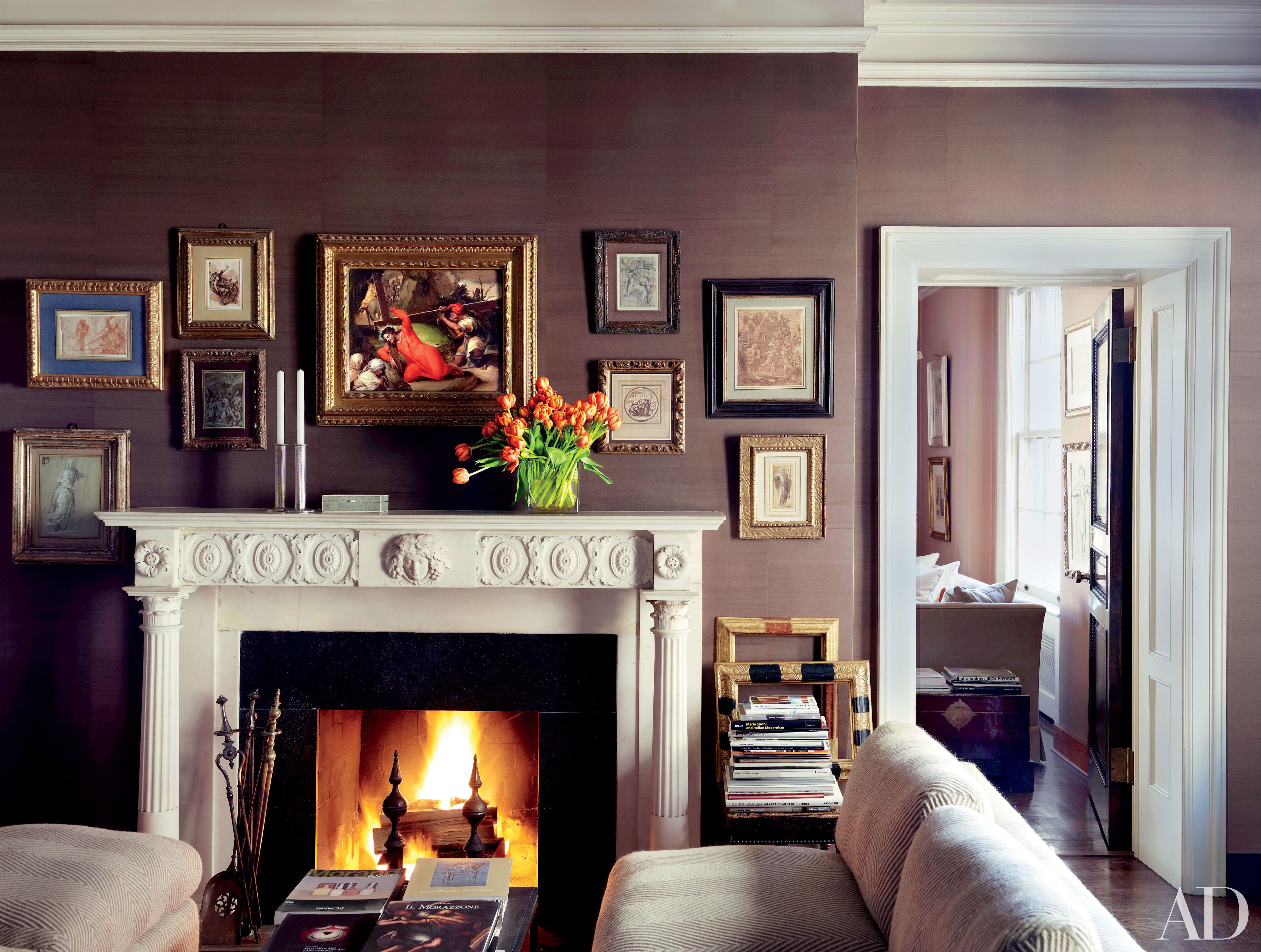 31 Gorgeous Rooms Featuring Warm Colors  Architectural Digest Simple Painting Designs On Walls For Living Room Decorating Design
