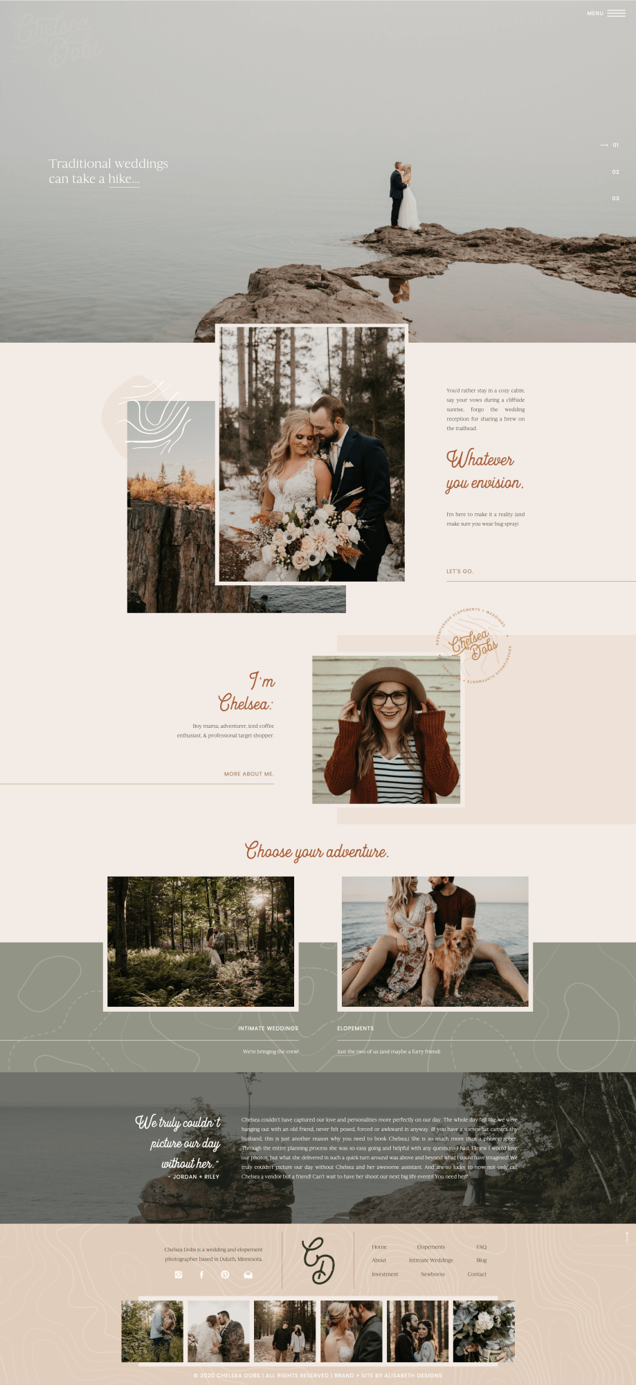 Boho Elopement Photographer Website In 2020 Custom Website Design Photographer Branding Custom Web Design