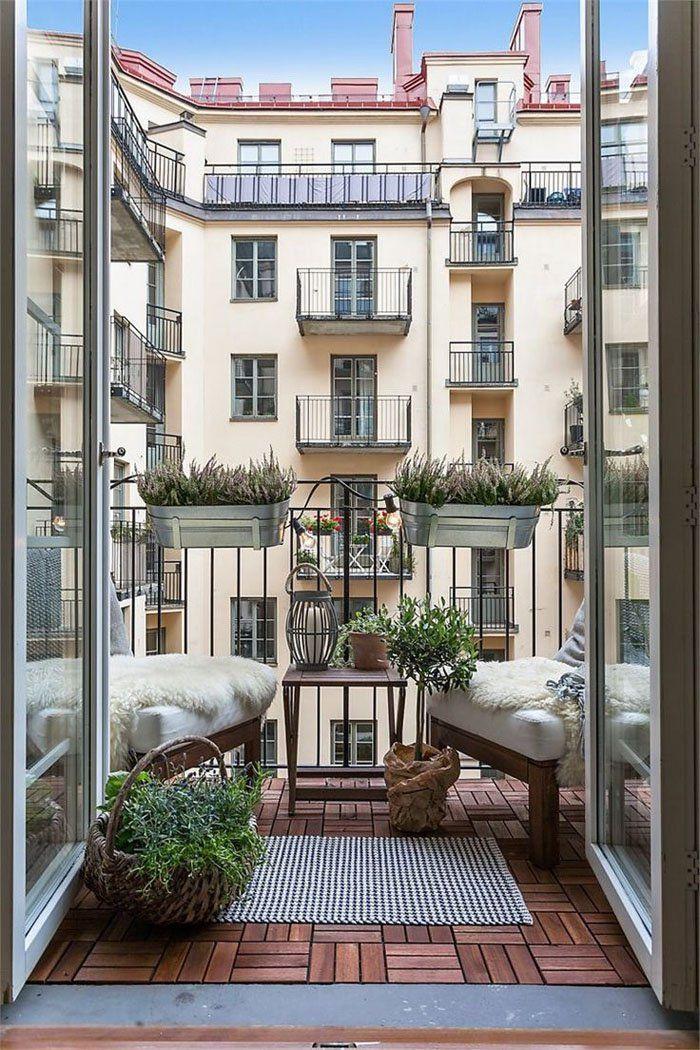 77 coole Ideen für platzsparende Möbel, womit Sie kokett den kleinen Balkon gestalten #kleinerbalkon