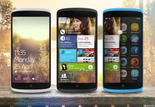 Nokia concept WP8 and Meego