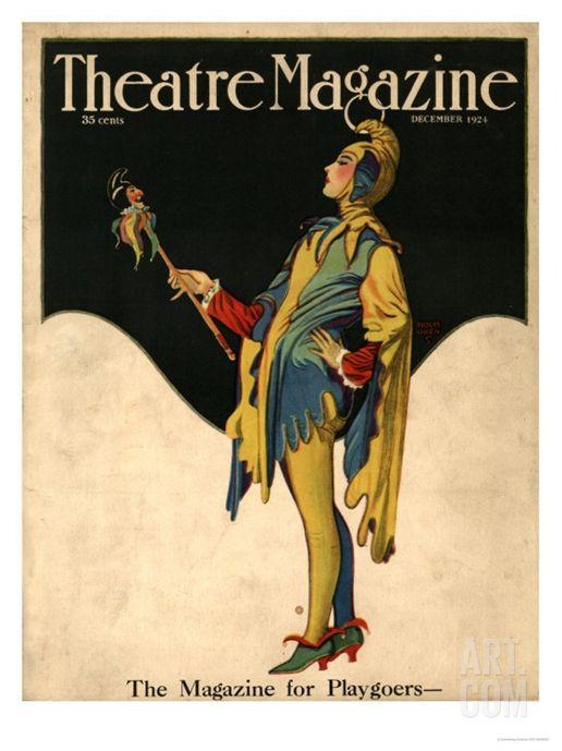 Theatre Magazine, Clowns Jesters Magazine, USA, 1921 | Giclee print ...