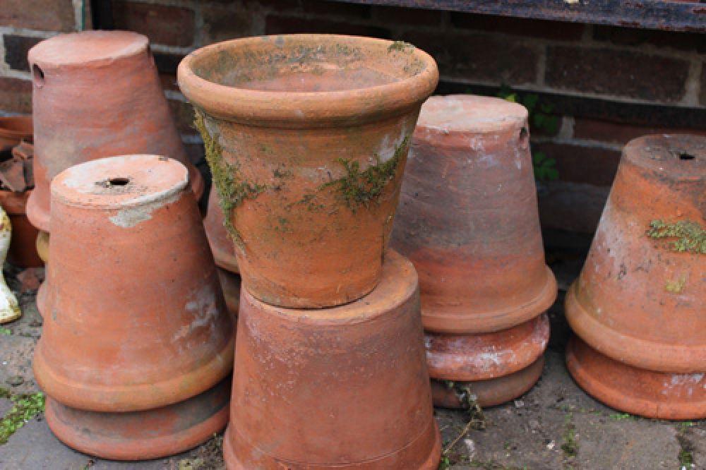 Old Terracotta Pots Old Terracotta Pots Terra Cotta Pots Garden Terracotta Pots Stoneware Planter