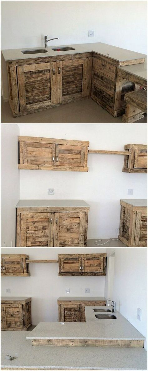 amazing wood pallet ideas that are easy to make palletten k che und paletten ideen. Black Bedroom Furniture Sets. Home Design Ideas