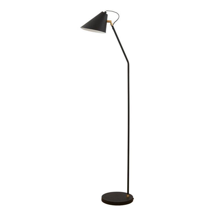 House Doctor Gulvlampe Club Sort Hvid Floor Lamp Black Floor Lamp House Doctor