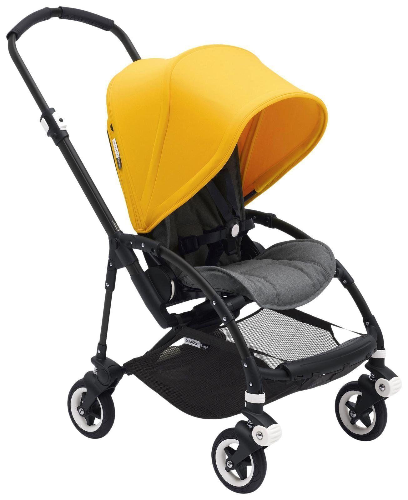 Bugaboo Bee5 Complete Stroller, Black/Sunrise Yellow