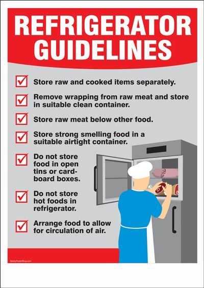 Refrigerator Guidelines In 2019 Food Safety Tips Food
