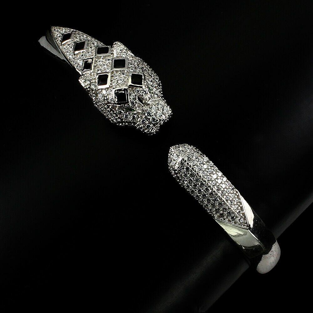 Sterling Silver CZ Tennis Bracelet AAA Round Brilliant 4mm Cubic Zirconia Gems