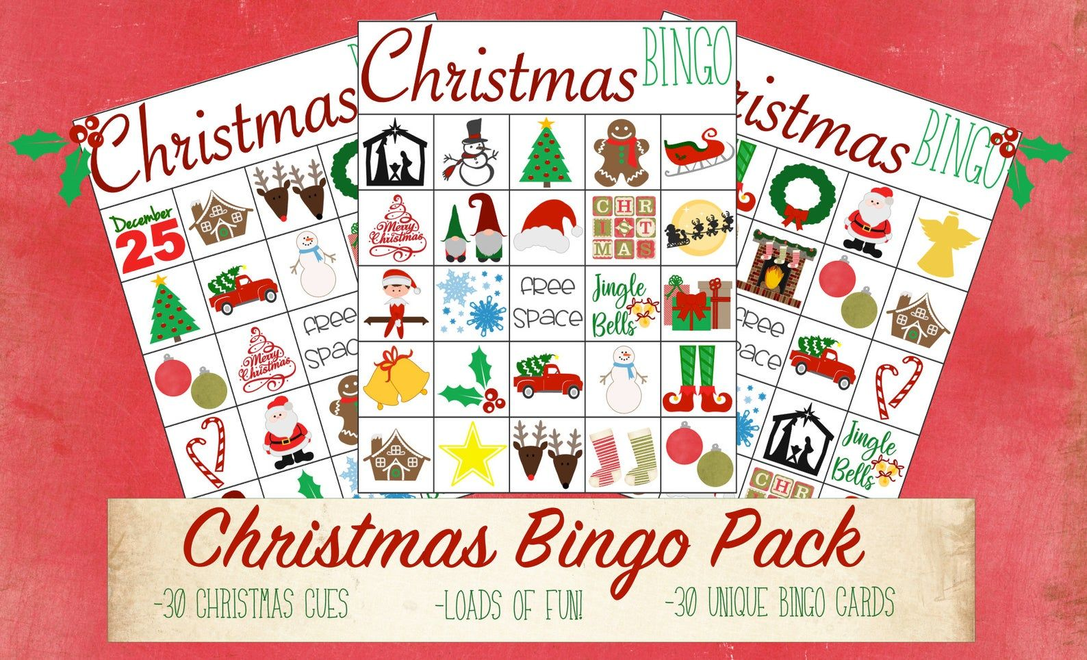 Christmas Bingo Christmas Bingo Game For Kids Classroom