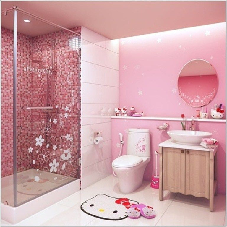 46 Awesome Dazzling Kids Bathroom Design Ideas 2019 Pouted Com Hello Kitty Bathroom Hello Kitty House Hello Kitty Rooms