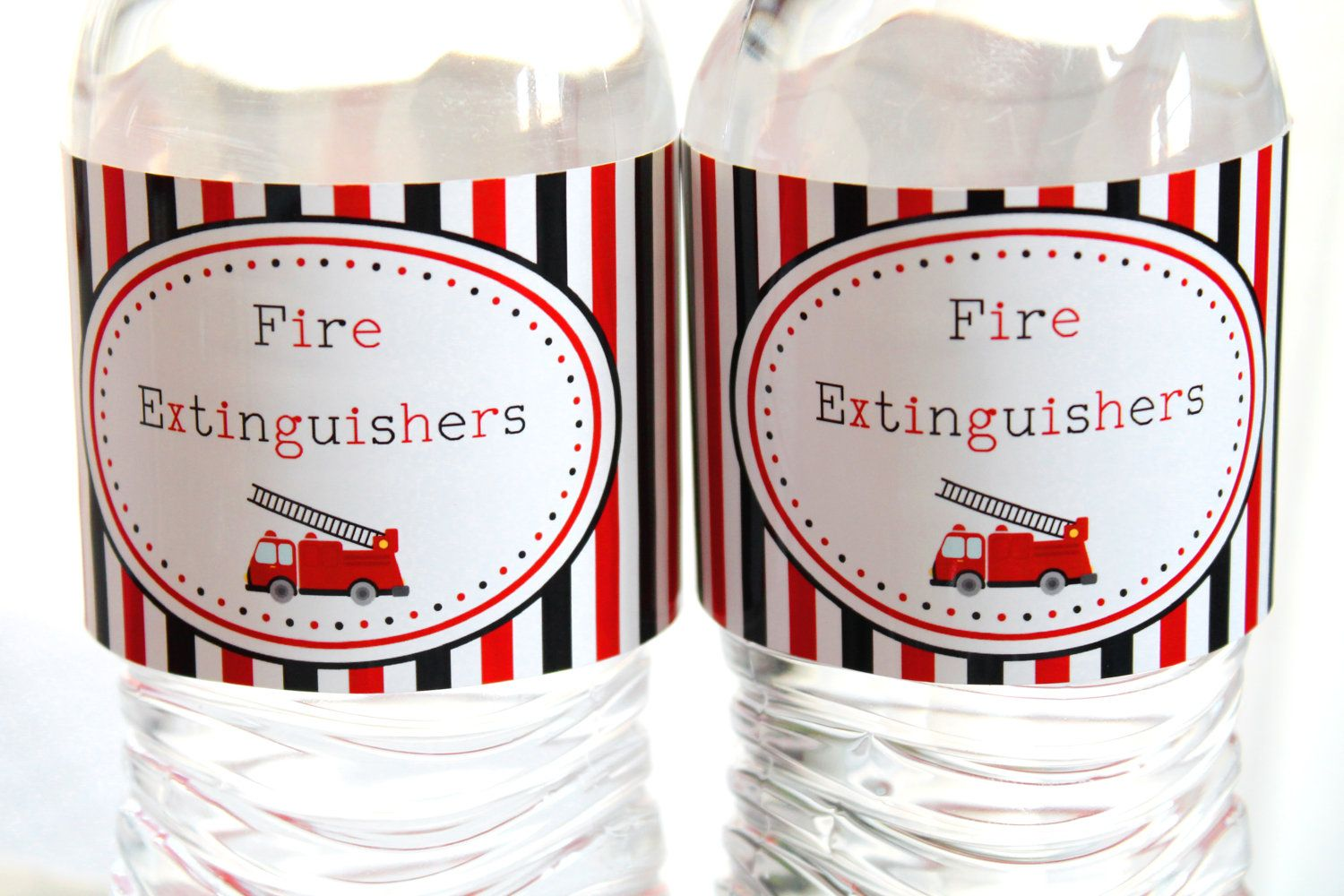 Fire Fighter Party Custom Food Labels By Fabulouspartydesigns