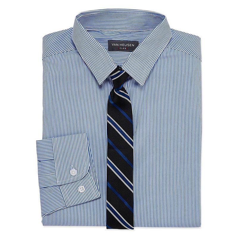 88e9dcac20a9cf Van Heusen Shirt + Tie Set Boys 8-20 Regular   Husky