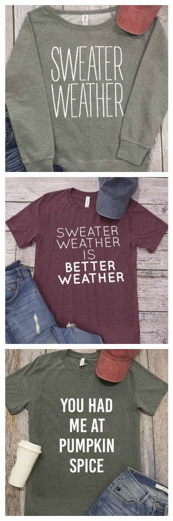 7418d4825 This adorable graphic tee is a must-have for ladies who are in love with all  things fall! | Fall Graphic Tees '18 | Fall outfits, Fashion, Winter fashion