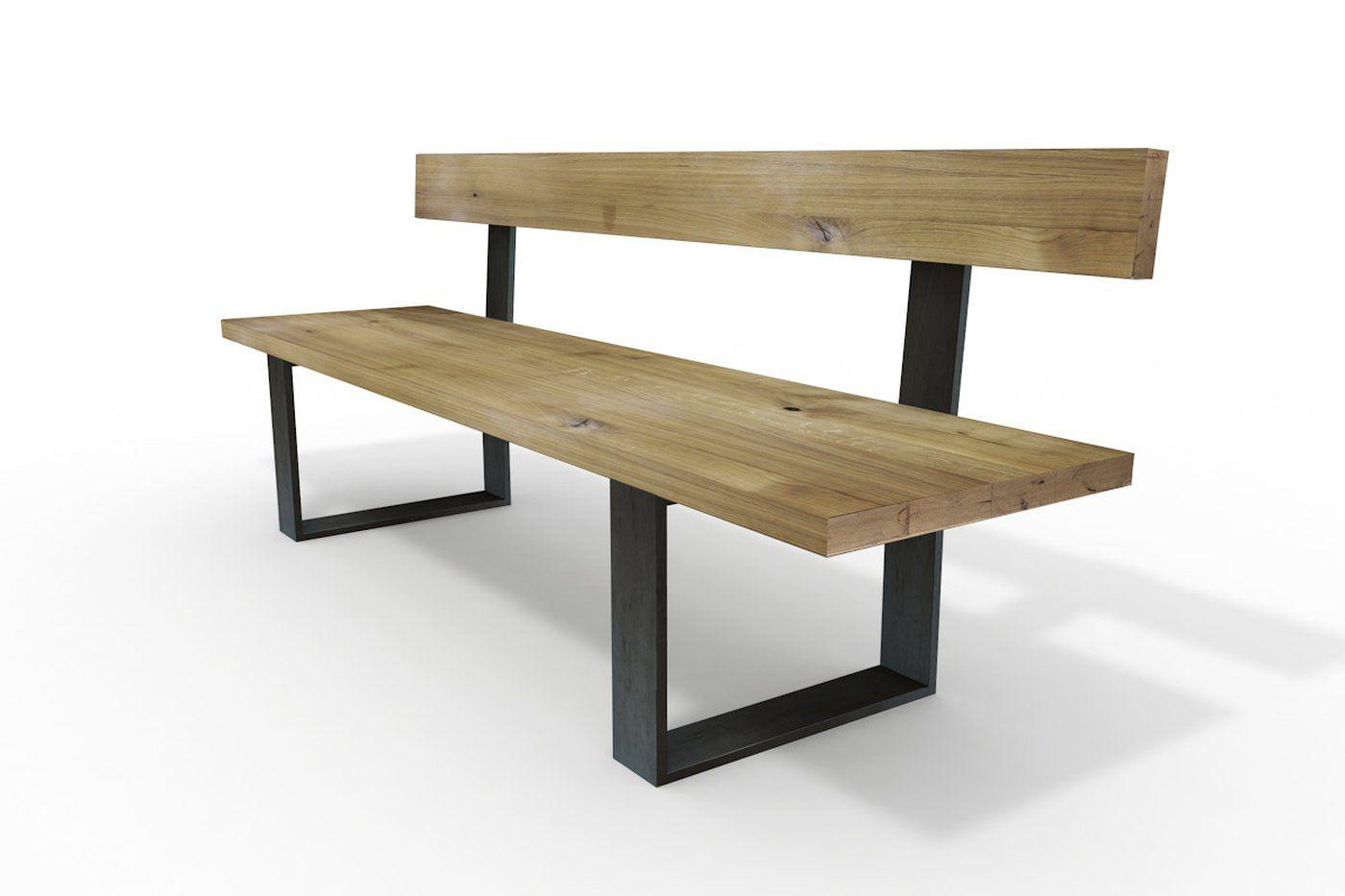 Sitzbank mit Rückenlehne Holz Eiche Horten in 2020