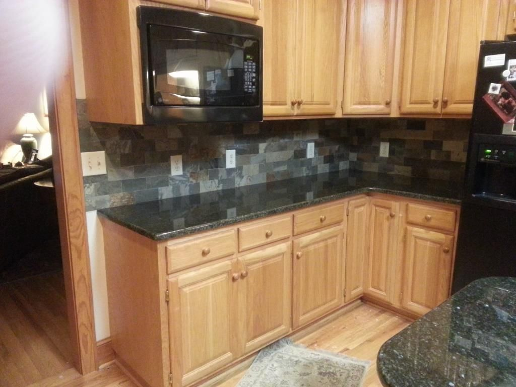 Uba Tuba Granite Countertops 30 70 Stainless Steel Sink 3x6 Slatty Multi Colored Slate Backsplashbacksplash Ideasgranite Countertopscolored