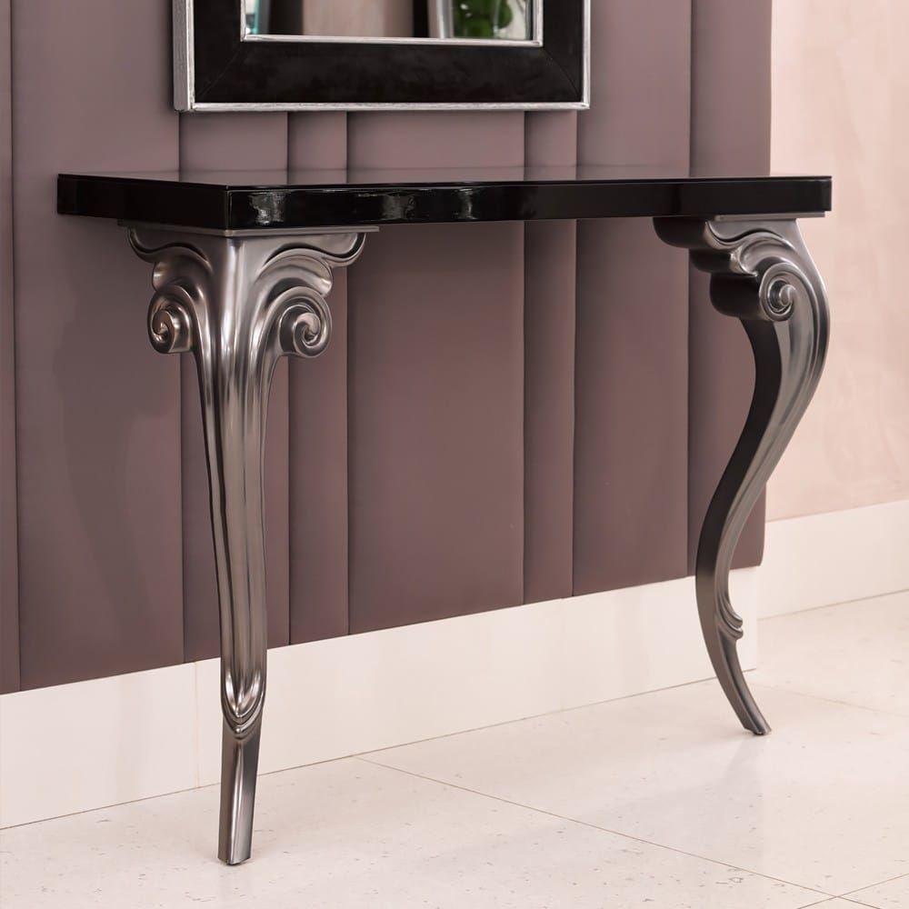 Designer Elegant Contemporary Console And Mirror Set Luxury