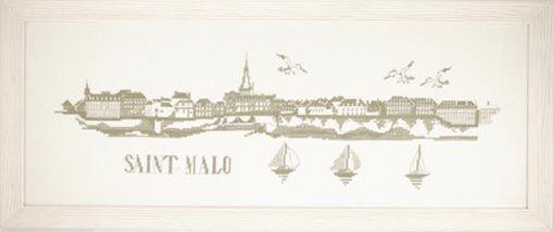 ABC 470 Saint Malo (avec images)   Point de croix, Croix, Broderie