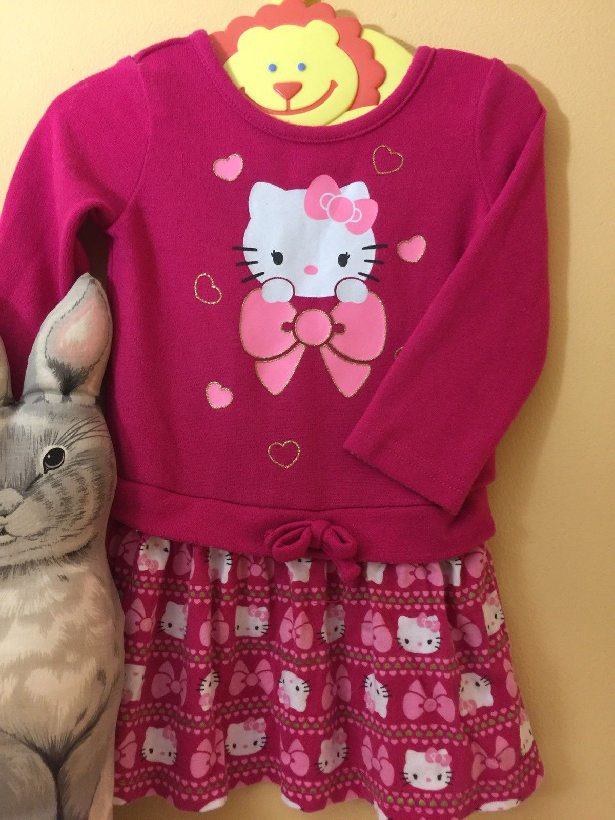 Pink sweater dress outfit  Cool Awesome Hello Kitty Kids Sweater Dress Outfit M Cute Kawaii